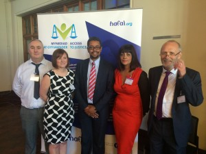 Hafal Criminal Justice staff at the launch of our 'Access to Justice' Service in June 2015.